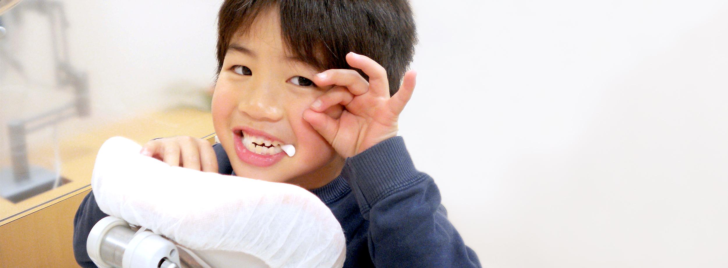 子供の歯を守りたい。子供の成長を見守る診査・診断。小児歯科